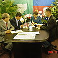 Cross Communication Around Table Every End of the Month of CWLP-TV